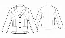 Lekala Sewing Patterns - WOMEN Jackets/Blazers Sewing Patterns Made to Measure and Royalty Free