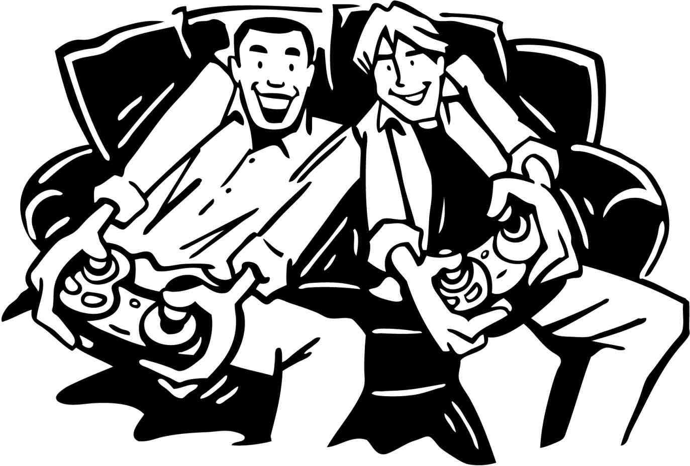 40+ Games Clipart Black And White