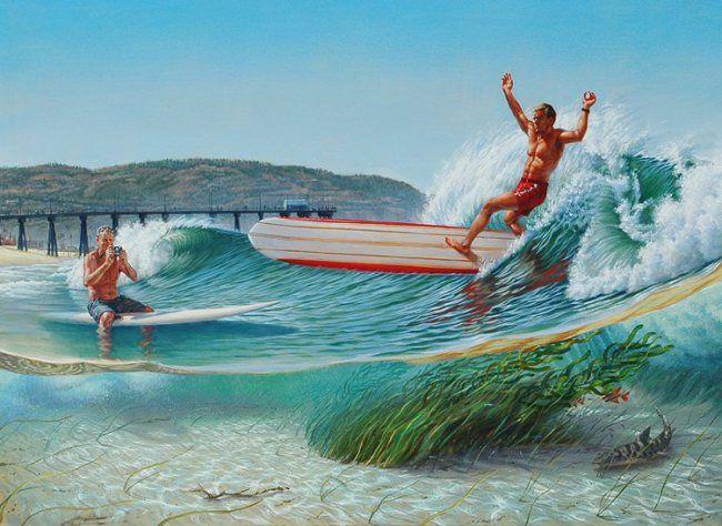 Surf Legends Memorial Surf Art Surfing Surf Poster