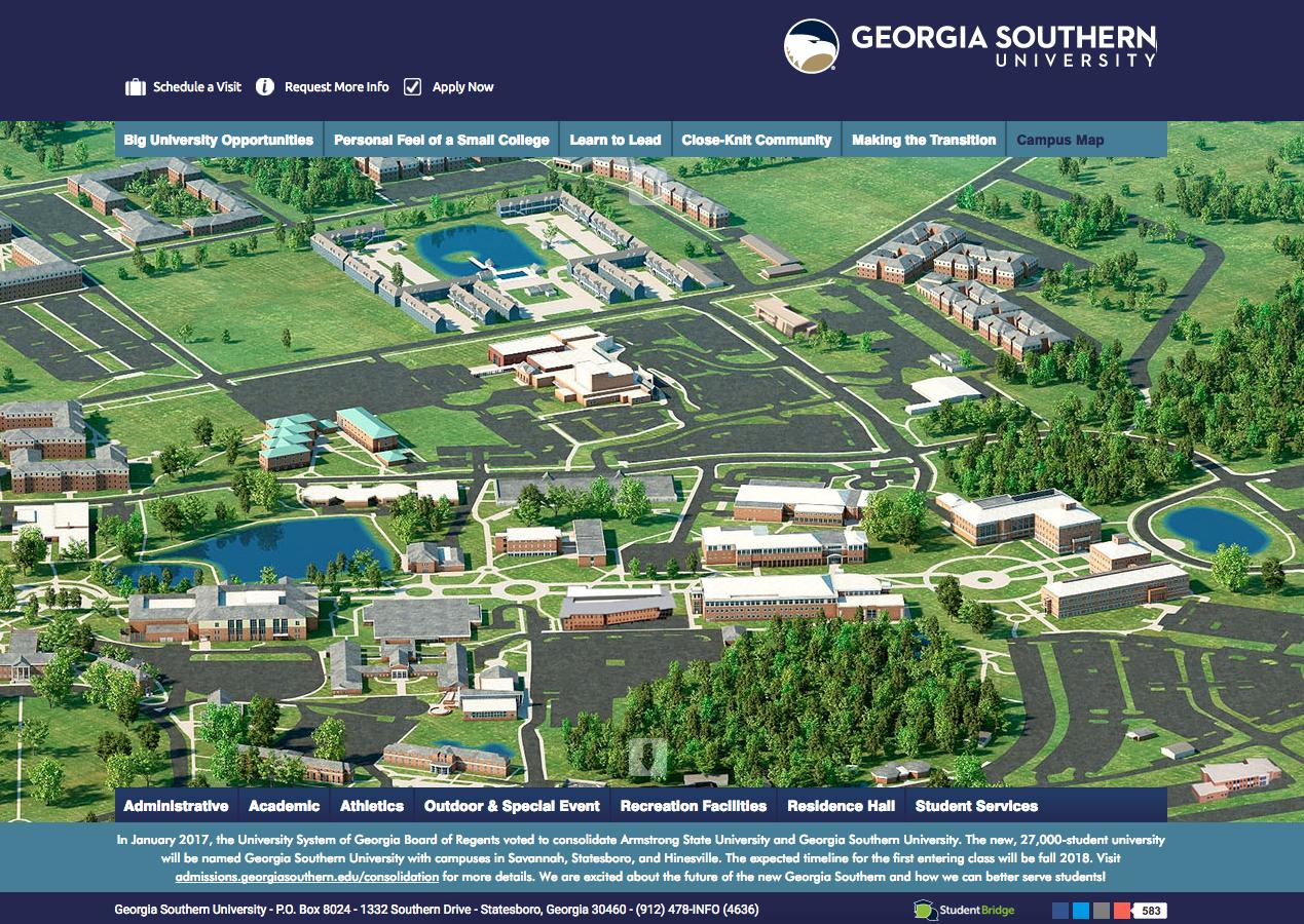 ga southern campus map Use This Interactivemap To Have A Look Around ga southern campus map