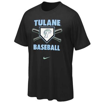 look your best at the game with this tulane baseball t-shirt