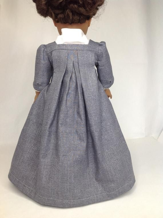 Historical doll dress, Sacque back gown, 1770s fashion, skirt and robe, historical doll clothing #historicaldollclothes
