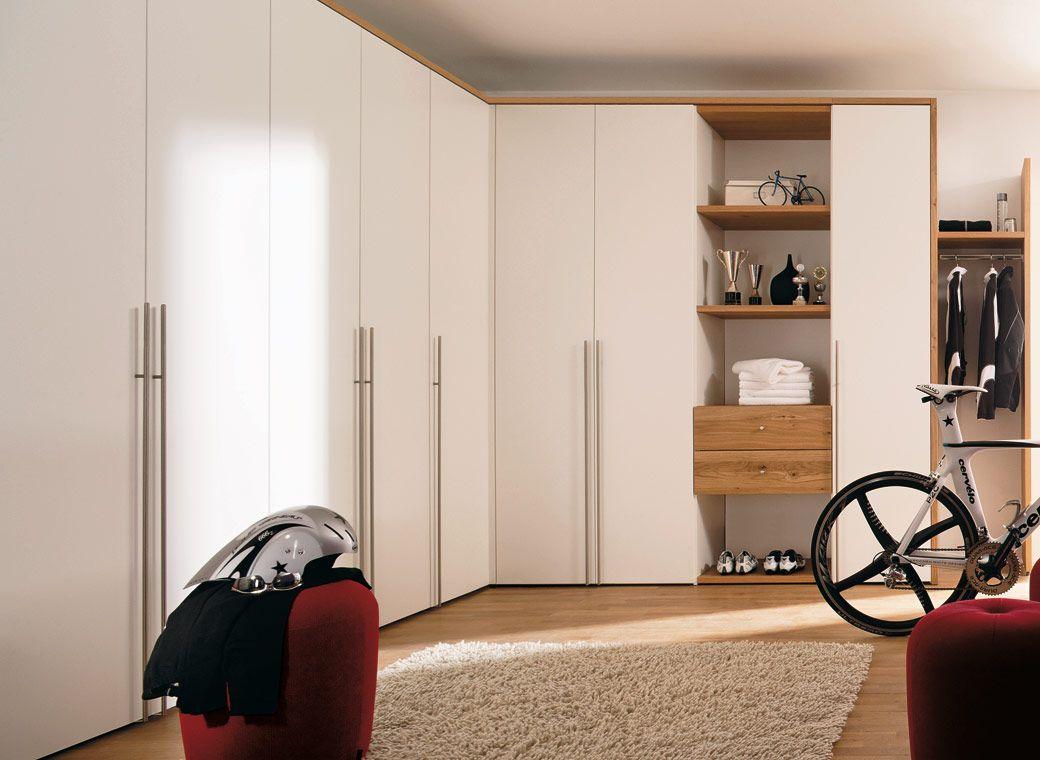 Bedroom Almirah Interior Designs Fair Minimalistwhitedoorwoodenwardrobewithcoolwhitecycling Design Ideas