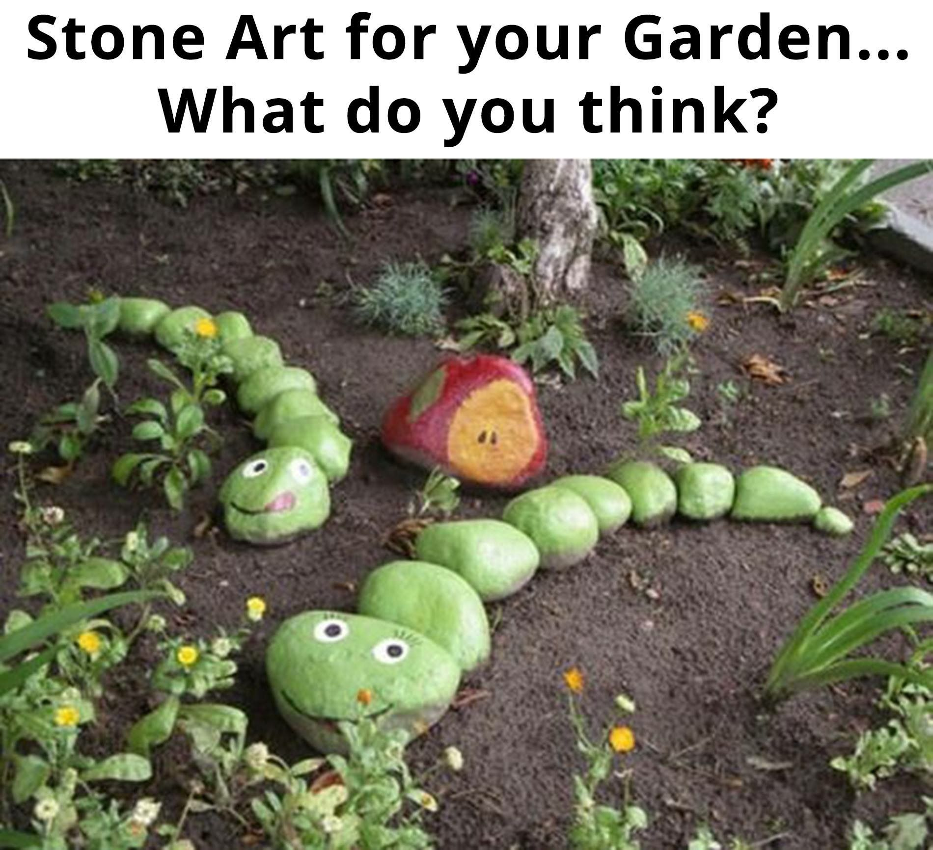 Como Decorar Un Jardin Con Piedras Paint Stones Green And Make Very Hungry Caterpillars For Your
