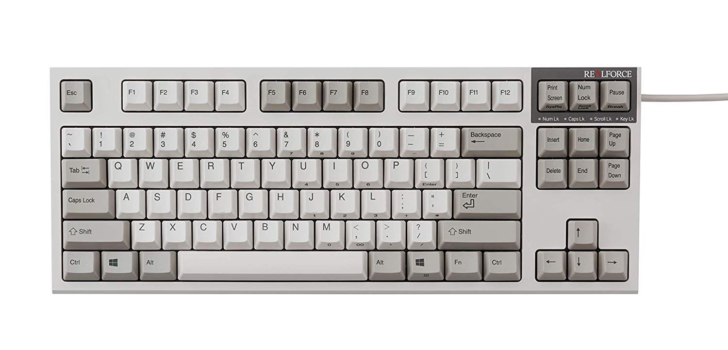 Topre Realforce R2 TKL in Ivory with 55g switches | Keyboard