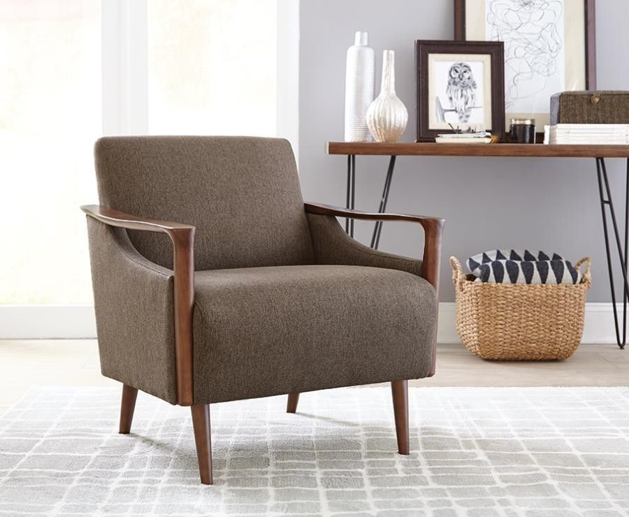 Coaster Accent Chair In Brown With Images Living Room Chairs