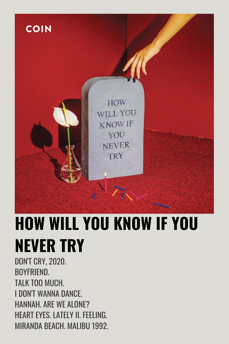 Coin How Will You Know If You Never Try In 2020 Movie Poster Wall Minimalist Music Music Poster Design