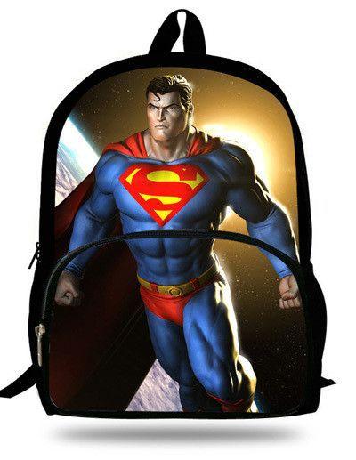 c7e1ffec4b Cool 16inch Heroes Backpack Children Superman Bag School Teenage Boys  School Backpack Superman Print Mochila Infantil Menino
