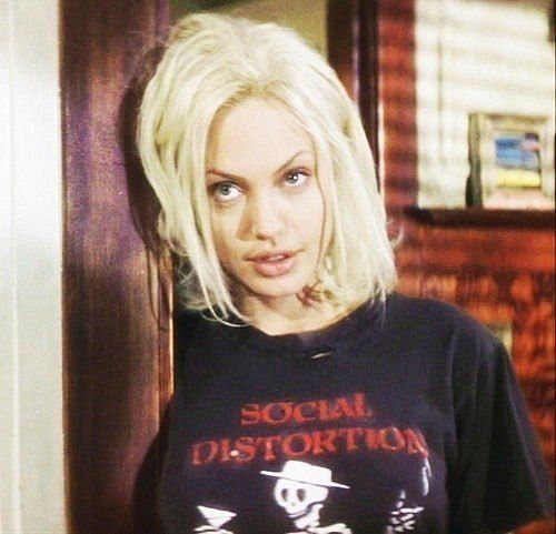 Angelina Jolie Blonde Hair Angelina Jolie Angelina Social Distortion