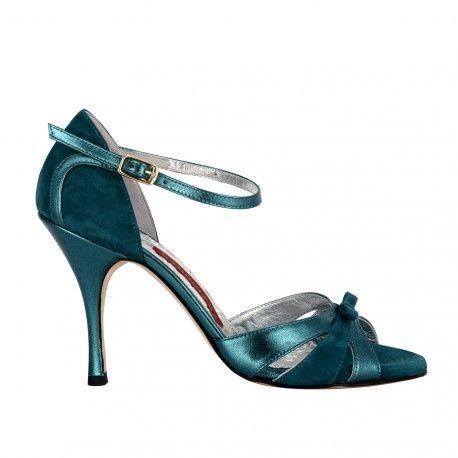A3F Laminato ottanio Tacco 9 - Bandolera Tango Shoes