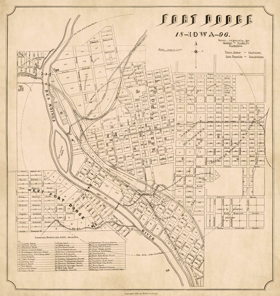 map of fort dodge iowa Old City Plan Of Fort Dodge Old Map Of Fort Dodge Archival Print map of fort dodge iowa