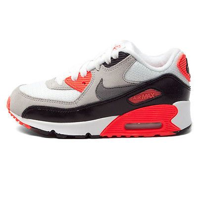 Nike Air Max 90 Shoes Size 11 in WhiteGreyRed (Red) for