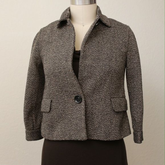 Michael Kors // brown tweed swing jacket Michael Kors // brown tweed swing jacket   :: measurements available upon request ::  preloved with no holes, stains, pilling, etc.  :: LOWEST PRICE LISTED, discounts on bundles only :: Michael Kors Jackets & Coats