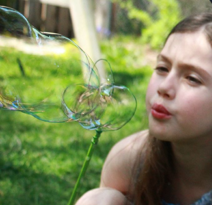 How To Make Homemade Bubbles Homemade Bubbles Kids