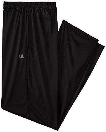 Champion Men's Big Tall Powertrain Solid Pant, Black, 3X
