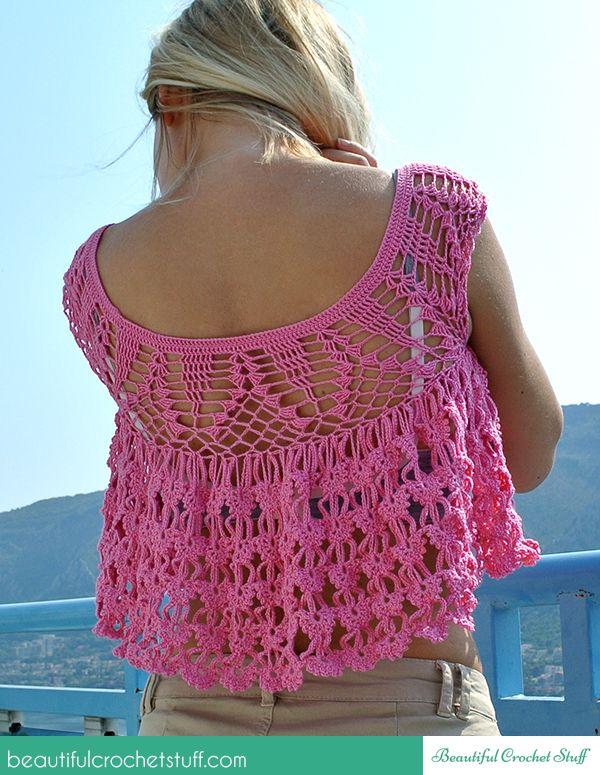 Crochet Pink Top Zuknftige Projekte Pinterest Pink Tops Free