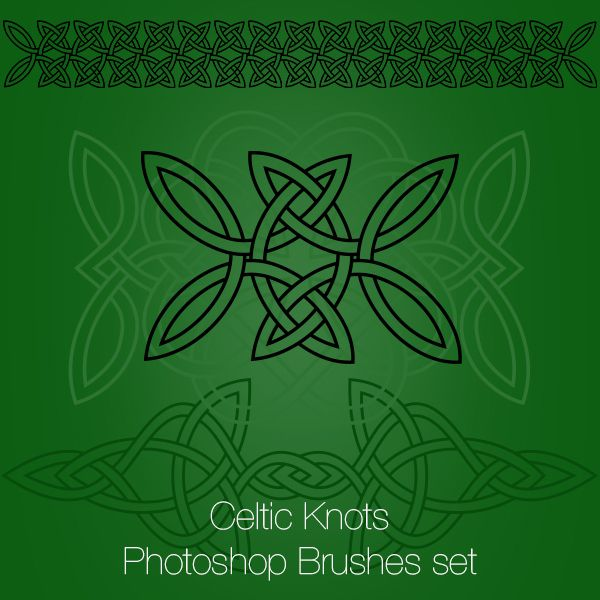 Celtic Knots Photoshop Brushes and PNGs http://graphics-illustrations.com/product/photoshop-brushes/celtic-knots-photoshop-brushes/