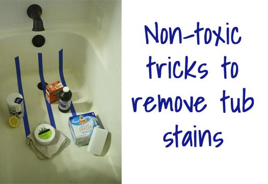 Experiment In The Best Products To Clean Bathtub Stains Naturally