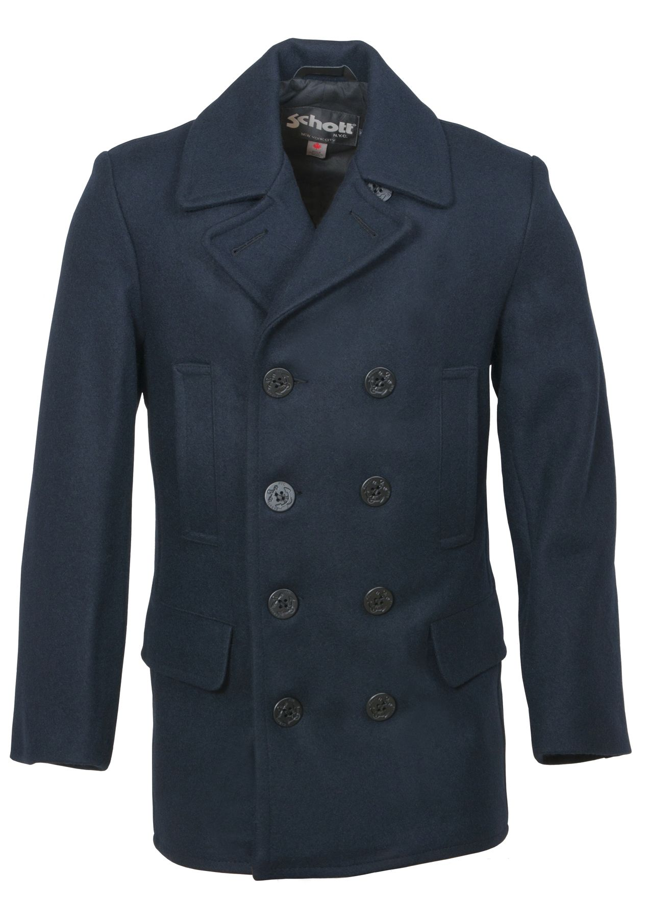 a0e272c6a64 Men's Slim Fitting Wool Peacoat DU704I | Style | Slim man, Coat ...