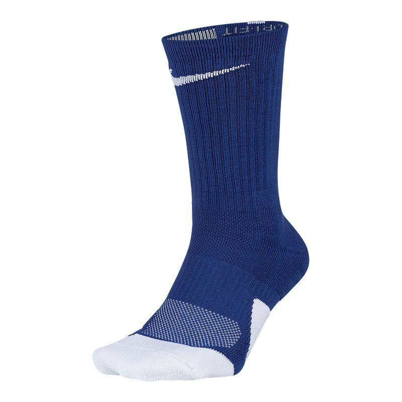 Nike Elite Cushioned Basketball Crew Socks White Black SX5593-100 Men's NEW