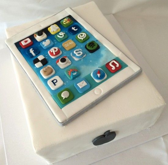 Ipad Cake Apps Fondant By How To Cook That With Video