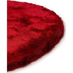 Photo of benuta Essentials Hochflor Shaggyteppich Whisper Rot ø 200 cm rund – Langflor Teppich für Wohnzimmer