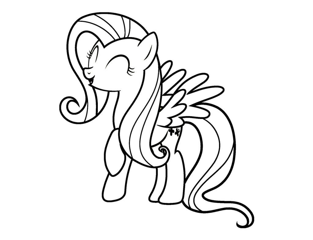 Fluttershy Coloring Pages My Little Pony Coloring Pony Drawing