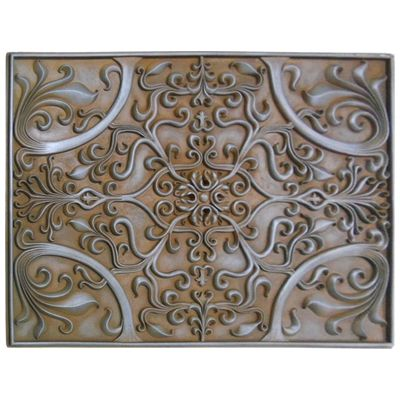 Decorative Tile Accents Soci Metal Resins Tile Plaque Ssgr1377Kitchen Backsplash