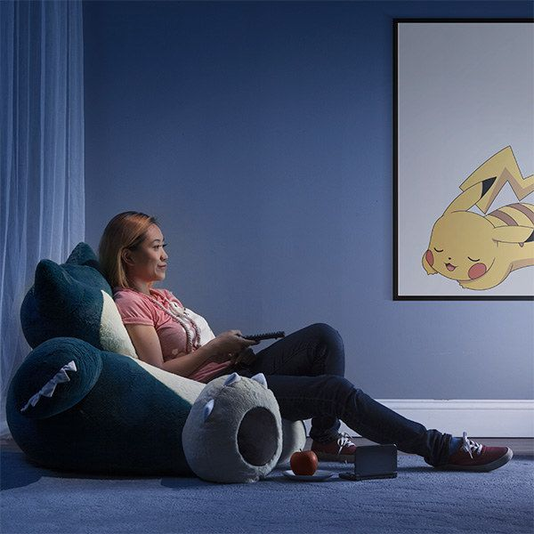 A Giant Snorlax Bean Bag For One Purpose And One Purpose