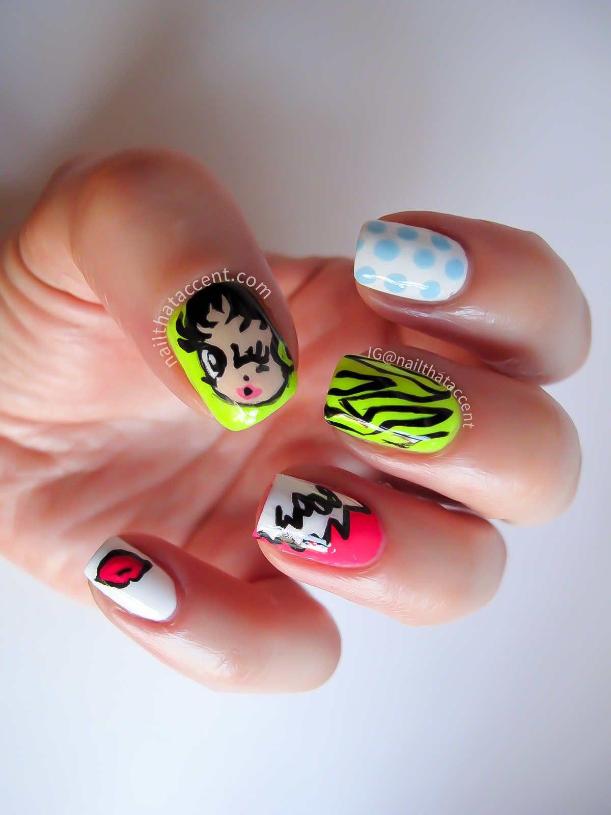 Comic Book Nails Betty Boom Nail Art
