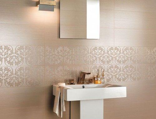 Bagno Design ~ Brilliant sable arabesque foto #rivestimenti #pastabianca