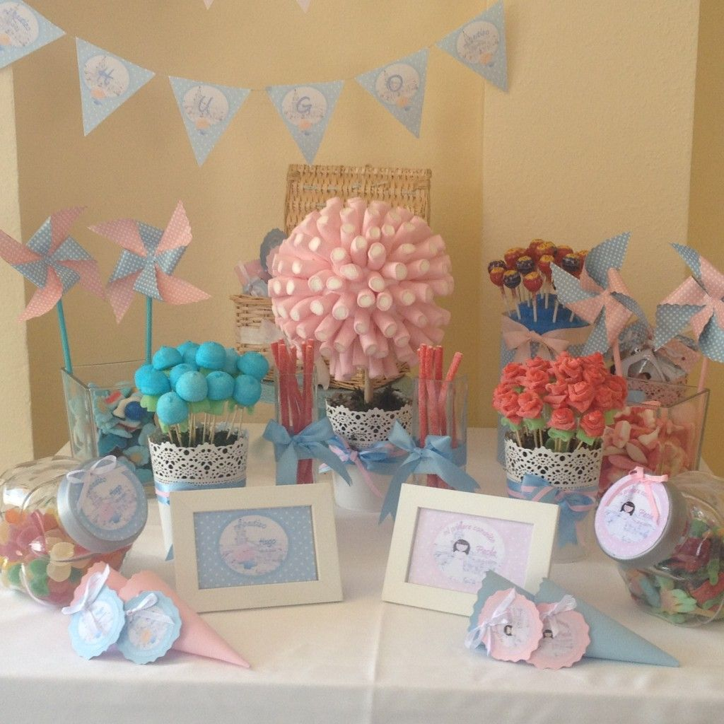 Decorar Con Chuches Una Comunion Comuniones Decoracion Mesa Chuches Mesa Dulce Comunion Candy