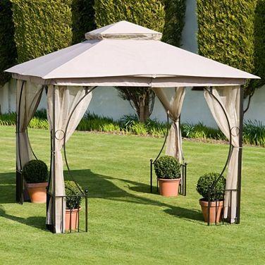 3m Oxford Gazebo With Curtains Garden Gazebo Pagoda Garden Outdoor Gazebos