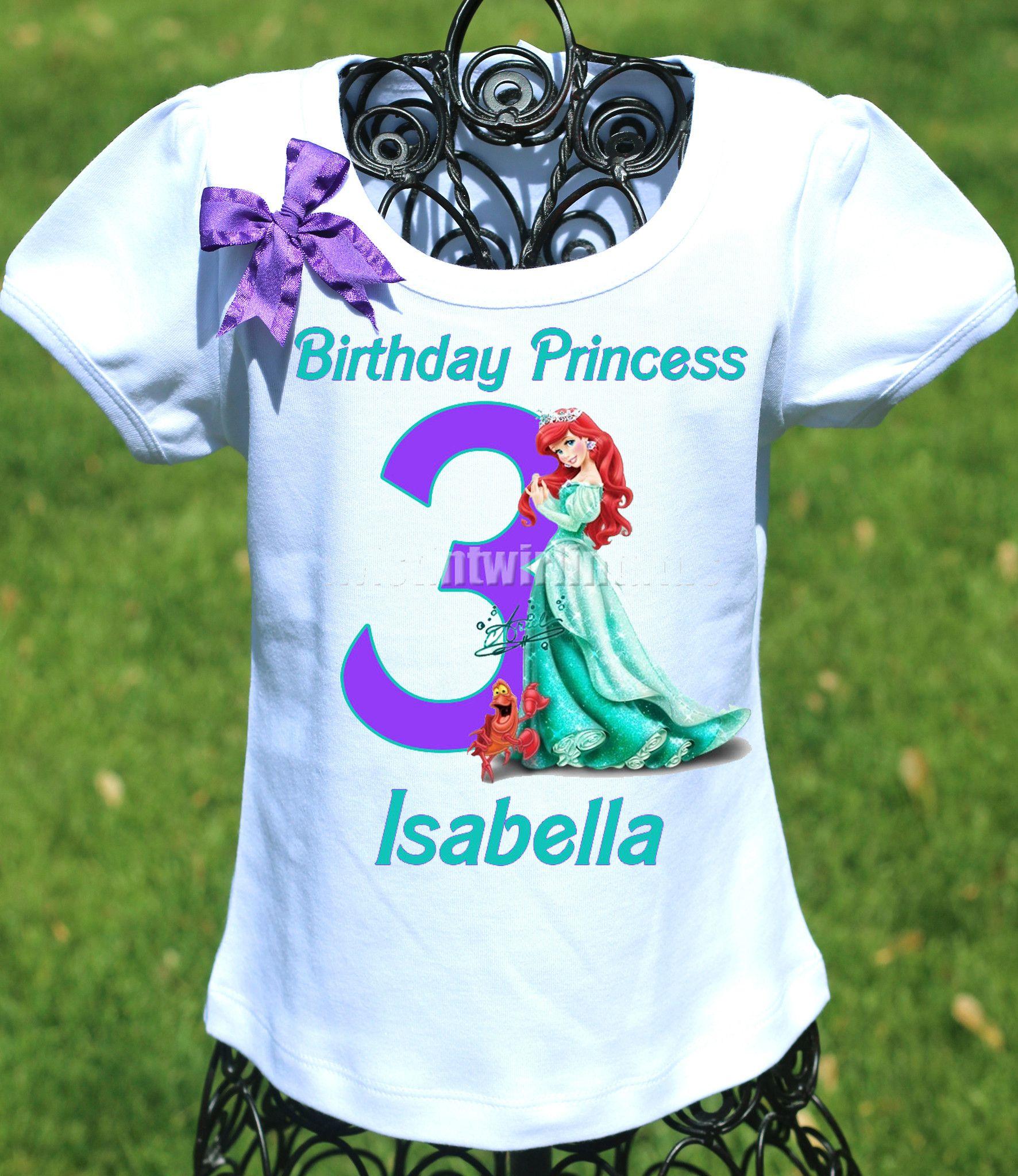 Princess Ariel Birthday Shirt