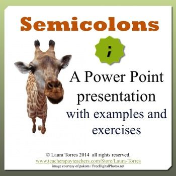 Semicolons Power Point Presentation. Take the mystery out of this commonly misused punctuation mark. Semicolon usage is clearly explained in this Power Point with explanations, examples, and quizzes. $