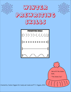 free printable to practice winter prewriting skills with the book