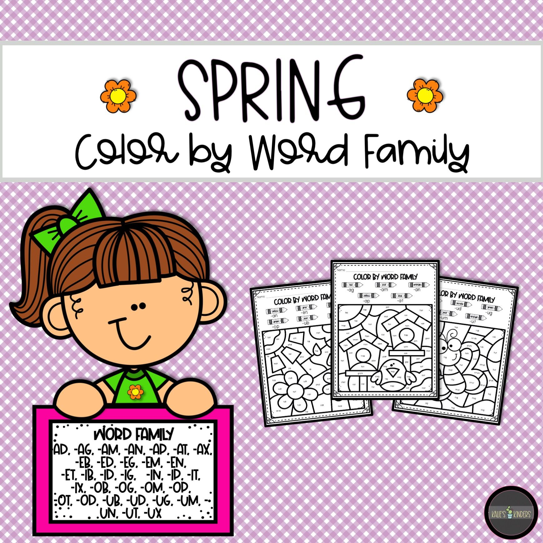Stratagempurple Ed Word Family Worksheets