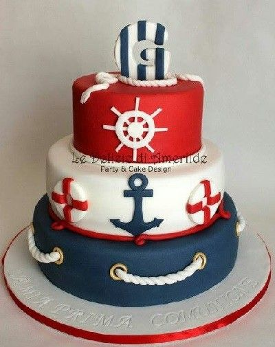 Nautical Baby Shower Cake 2 Haunted House Pinterest Shower
