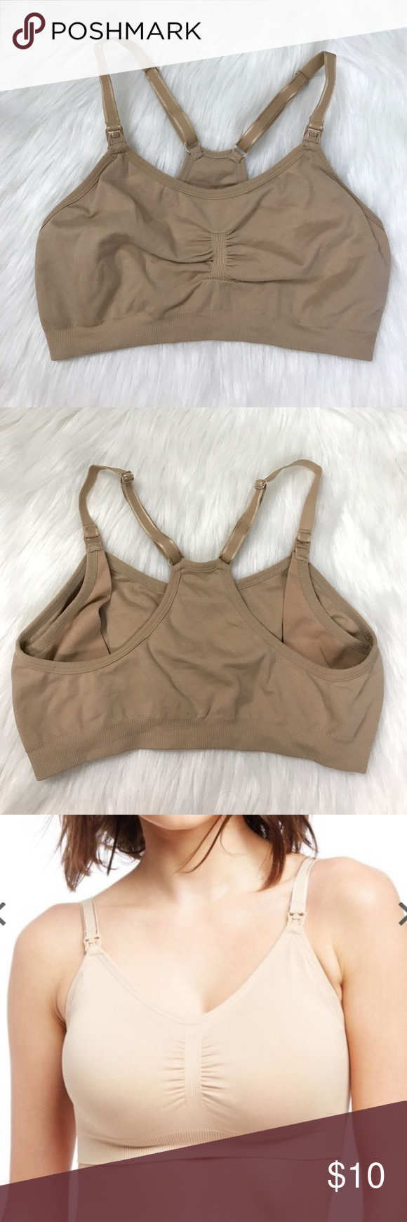Motherhood Maternity Seamless Nursing Bra A-D Ideal for cup sizes A-D. Gently used, This is my favorite Nursing Bra! Light weight and feels like nothing on. Includes adjustable straps. Motherhood Maternity Intimates & Sleepwear Bras