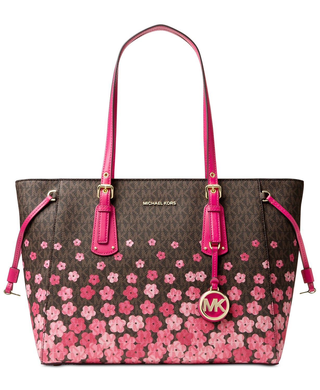 84756d1079023 MICHAEL Michael Kors Voyager Signature Floral Medium Tote - Handbags    Accessories - Macy s