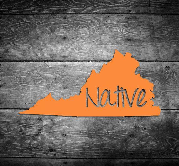 Virginia Native Sticker Decal Vinyl VA pride