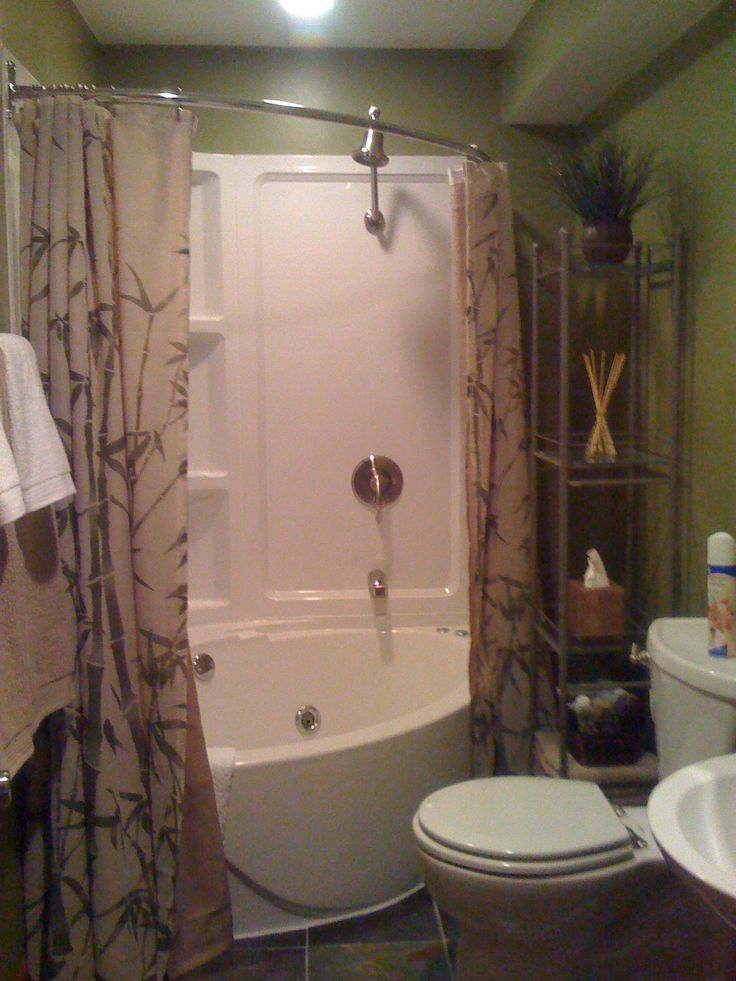 Small Bathroom Ideas With Jacuzzi corner whirlpool tub with shower curtain - google search | for the