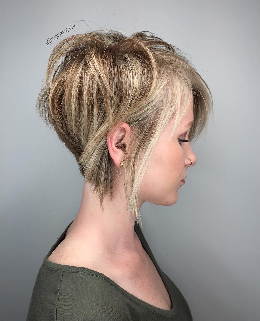 cute and easytostyle short layered hairstyles blonde pixie