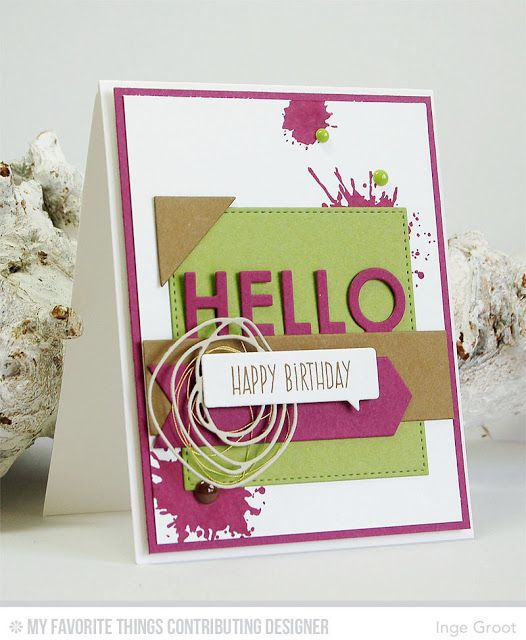 Patterned Paper Mftwsc248 Hello Cards Pinterest Pattern