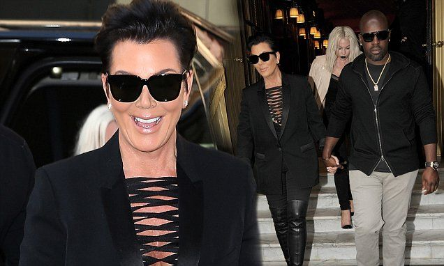 Kris Jenner wows in thigh-high boots and plunging top