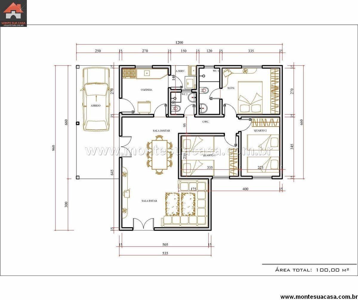Modelo de casas de 3 quartos mi pasi n pinterest for Modelos de casas