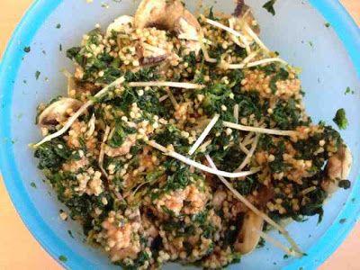Vegan and Healthy : Hirsepfanne mit Spinat und Pilzen