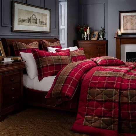 Dorma Lomond Red Duvet Cover And Pillowcase Set Dunelm Duvet Cover Sets Red Duvet Flannel Duvet Cover