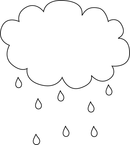 Black And White Rain Cloud Free Applique Patterns Weather Crafts Clouds Printable