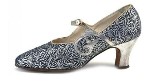Ladies Shoes - 1920's silver scroll Mary Janes.     Yes, one in every color, pattern & material please.